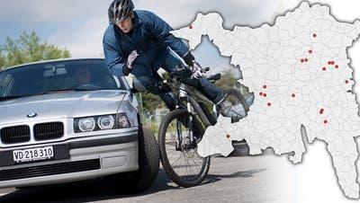 Hier «chlöpfts» am meisten: Das sind die 19 gefährlichsten Stellen auf Aargauer Strassen