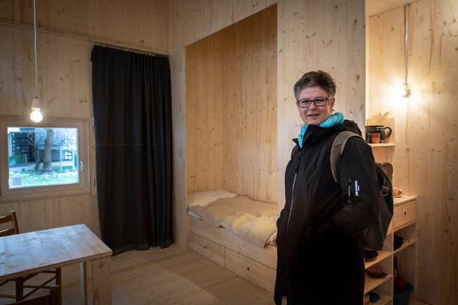 In dieser Zelle lebte Hildegard Aepli eine Woche, freiwillig eingeschlossen.