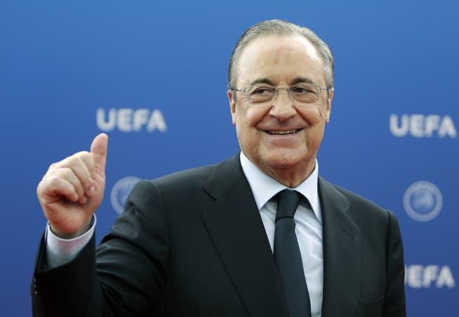 El ingeniero civil multimillonario Florentino Pérez es también el presidente del Real Madrid.