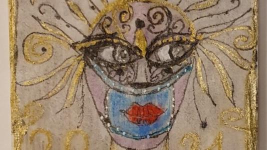 Auch die aktuelle Pandemie dient als Inspirationsquelle für die Teebeutel-Kunstwerke. (zvg)