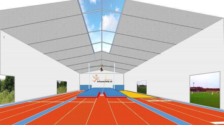Diese Visualisierung zeigt das geplante «Athletics-Center» von aussen. (Bild: PD/Architektur Innoraum)
