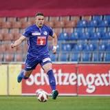 Luzern-Mittelfeldspieler Filip Ugrinicam vergangenen Samstag im Rheinpark in Vaduz beim 2:1-Sieg über die Liechtensteiner im Einsatz. (Bild: Martin Meienberger/Freshfocus (Vaduz, 1. Mai 2021))