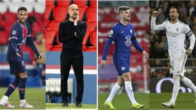 Neymar oder Pep Guardiola, Timo Werner oder Sergio Ramos: Wer gewinnt mit seinem Team 2021 die Champions League? (Fresh/Key)