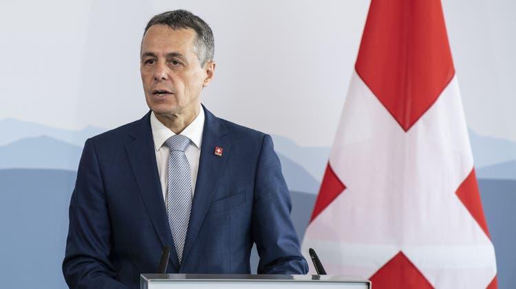 Bundesrat und EDA-Vorsteher Ignazio Cassis stellte den Antrag zum Abbruch der Verhandlungen. (Peter Schneider / KEYSTONE)