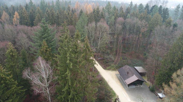 Das Waldhaus Fulenbach findet sich nicht im Abbauperimeter, der wenige Dutzend Meter weiter östlich beginnt. (Bruno Kissling / OLT)