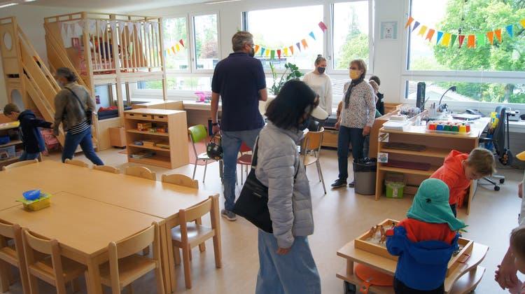 Der neue Schulpavillon Mettlen lockte viele Besucher an