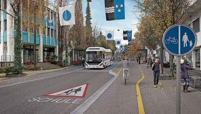 Bus als Pfropfen auf der Bahnhofstrasse? Stadtrat präsentiert eine Neuauflage der Bahnhofstrassen-Sanierung