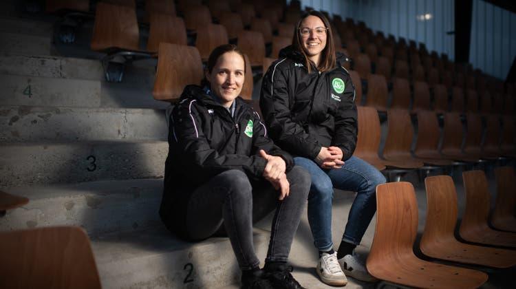 Die St.Galler Sportchefinnen Sandra Egger und Patricia Willi. (Benjamin Manser)