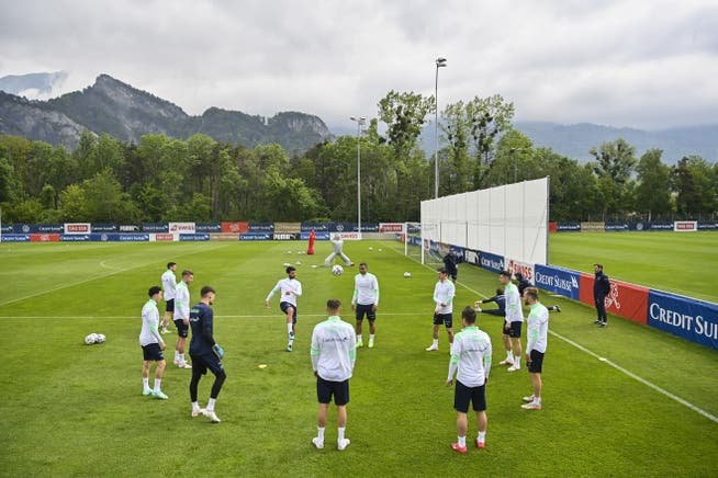 This morning: The Swiss national team is training in Bad Ragaz.