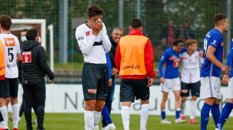 Das obligate Jubelfoto des FC Luzern. (freshfocus)