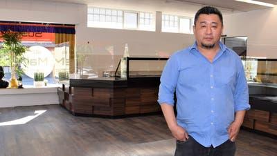 Nyingbu Tenzin wird als Spezialität Sushi und Momos, tibetische Teigtaschen, anbieten. (Bild: mhu (3. Mai 2021))
