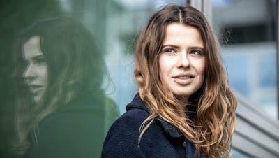 Luisa Neubauer, Umweltaktivistin und Mitorganisatorin der Fridays-for-future-Bewegung in Deutschland, spricht am Freitag am Symposium. (Bild: Michael Kappeler/DPA)