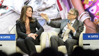 Melinda und Bill Gates am World Economic Forum (WEF) in Davos im Januar 2015. (Jean-Christophe Bott / EPA)