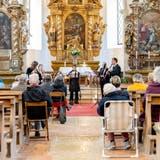 Chappeli Konzert «Holzbläsereien», v.l. Johanna Schwarzl, Doris Mende, Christian Holenstein, Daniel Casal Mota, Bernhard Röthlisberger. (Michel Lüthi)