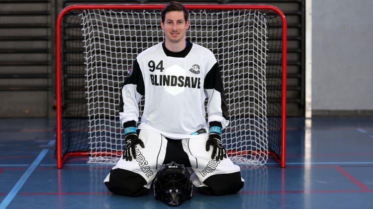 «Ich habe es seither nie bereut»: Dominic Gabriel hat sich beim Unihockey schon früh für den Platz im Tor entschieden