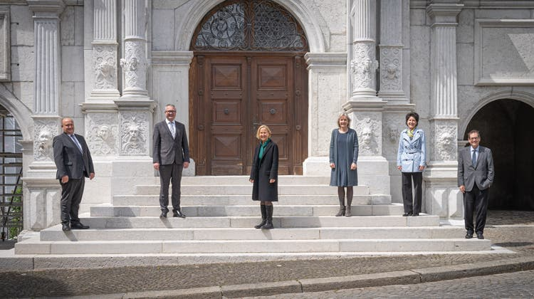 Der neu zusammengesetzte Solothurner Regierungsrat nach der Departementsverteilung. (zvg / Solothurner Zeitung)