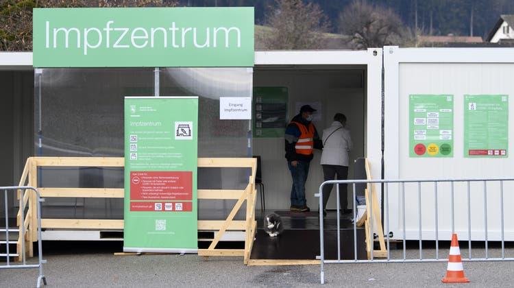 Das Impfzentrum in Burgdorf. (Keystone)