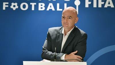Teilsieg errungen, die Ermittlungen gegen ihn werden aber weitergehen: Fifa-Präsident Gianni Infantino. (Keystone/Walter Bieri)