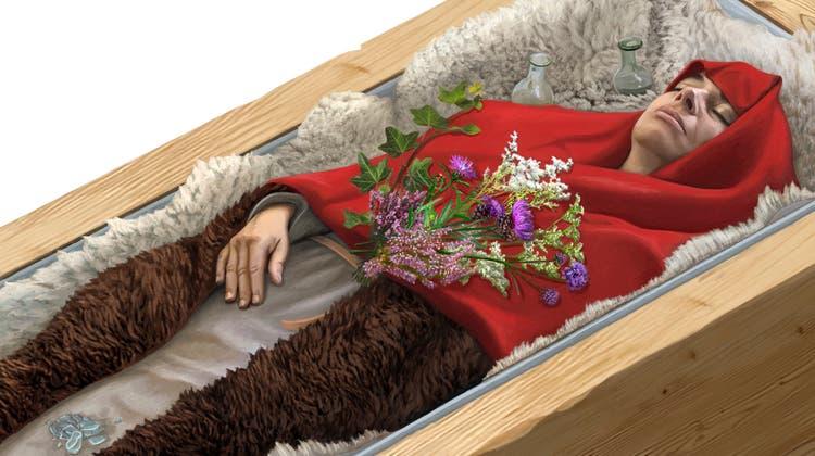 Als die zwischen 44 und 50 Jahre alte Unbekannte verstarb, erfreute sie sich einer grundsätzlich guten Gesundheit. Die genaue Todesursache bleibt daher ein Rätsel. (ZVG/Oculus Illustration)