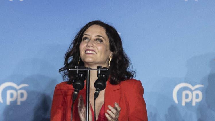 Isabel Díaz Ayuso, 42, neuer Stern am Himmel der spanischen Konservativen. (AP)