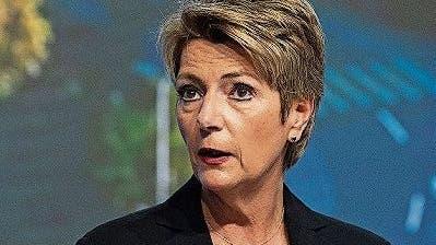 Bundesrätin Karin Keller-Sutter am St.Gallen Symposium.
