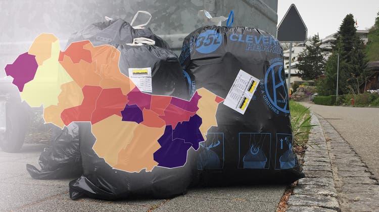 Im bezirksweiten Vergleich ist Klingnau eher günstig: Eine Zehnerrolle 35-Liter-Säcke kostet zwar mit 33.50 Franken überdurchschnittlich viel, eine Grundgebühr gibt es aber nicht. (Philipp Zimmermann)