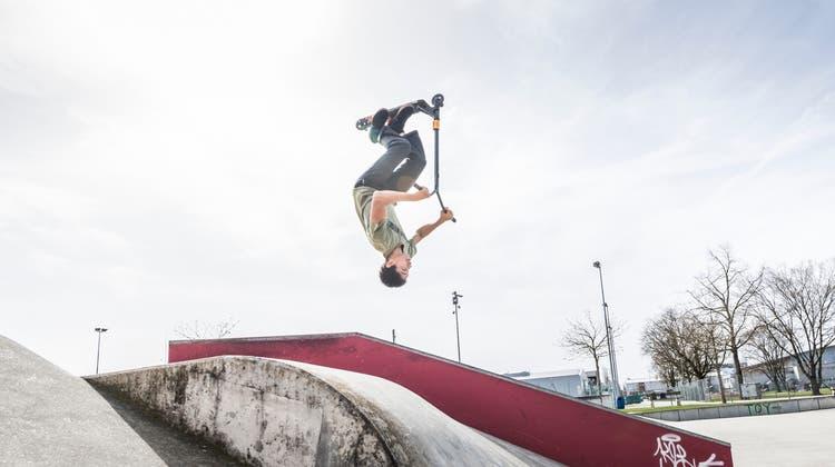 Einen solchenSkateparkwie in Frauenfeld wünscht sich Timo Luterbacher auch für Eggersriet. (Bild: Andrea Stalder)