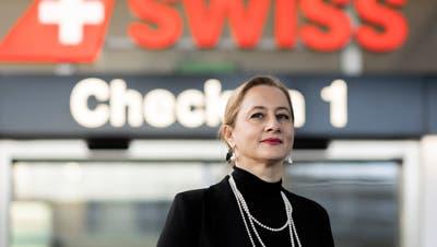 Sandrine Nikolic-Fuss, Präsidentin der Gewerkschaft des Kabinenpersonals Kapers, fotografiert am Flughafen Zürich, 12. November 2020. (Severin Bigler)