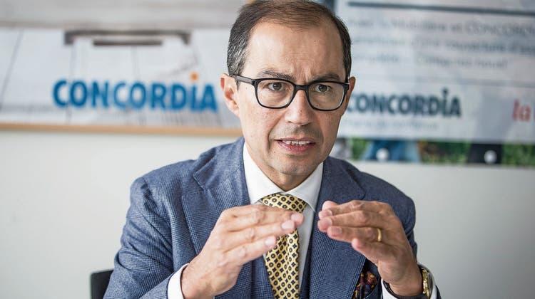 Seit 2003 Concordia-CEO: Nikolai Dittli, 55, im Luzerner Firmensitz. (Bilder: Manuela Jans-Koch (7. März 2019))