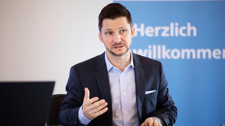 Beat Bechtold, Direktor der Aargauischen Industrie- und Handelskammer. (Britta Gut)