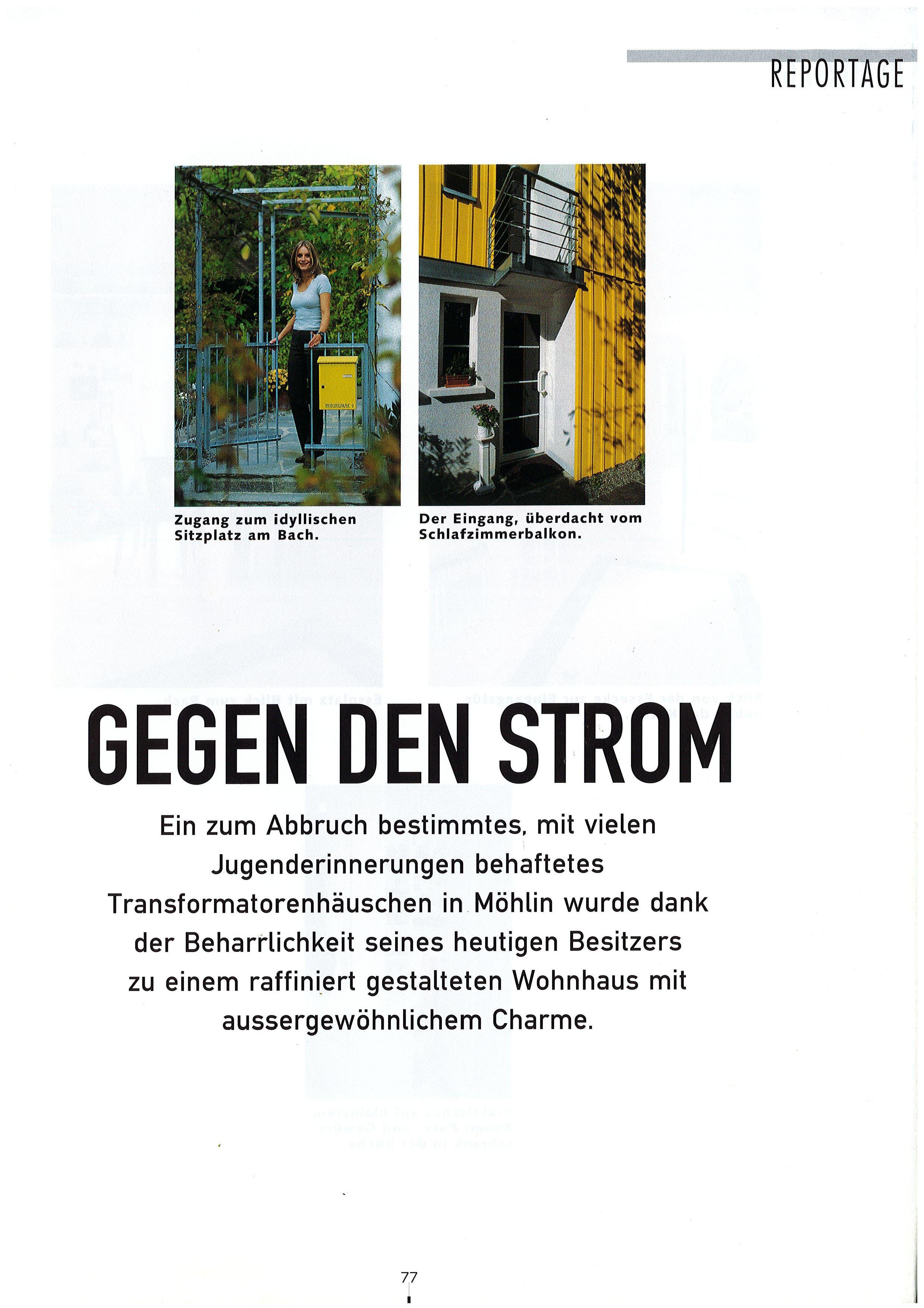 Die Reportage im Magazin «Schöner Wohnen» 1999.