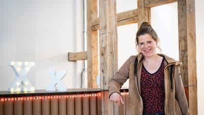 Christine Forster, Geschäftsführerin des Kult-X, freut sich über die finanzielle Unterstützung des Kantons. (Bild: Kevin Roth(12. April 2021))