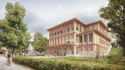 Ein dreigeschossiger Holzbau soll das «Wartheim» ersetzen. ((Bild: ZVG))