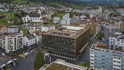 Blick auf das Krienser Stadthaus. (Bild: Pius Amrein(29. April 2021))