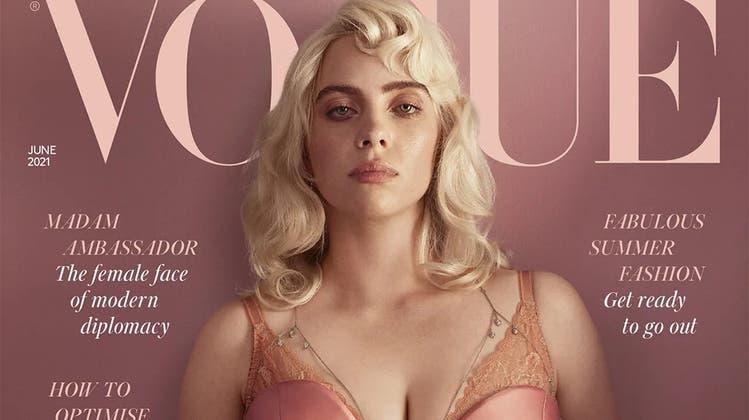 Billie Eilish auf de Cover der britischen Vogue, Juni 2021 (Vogue)