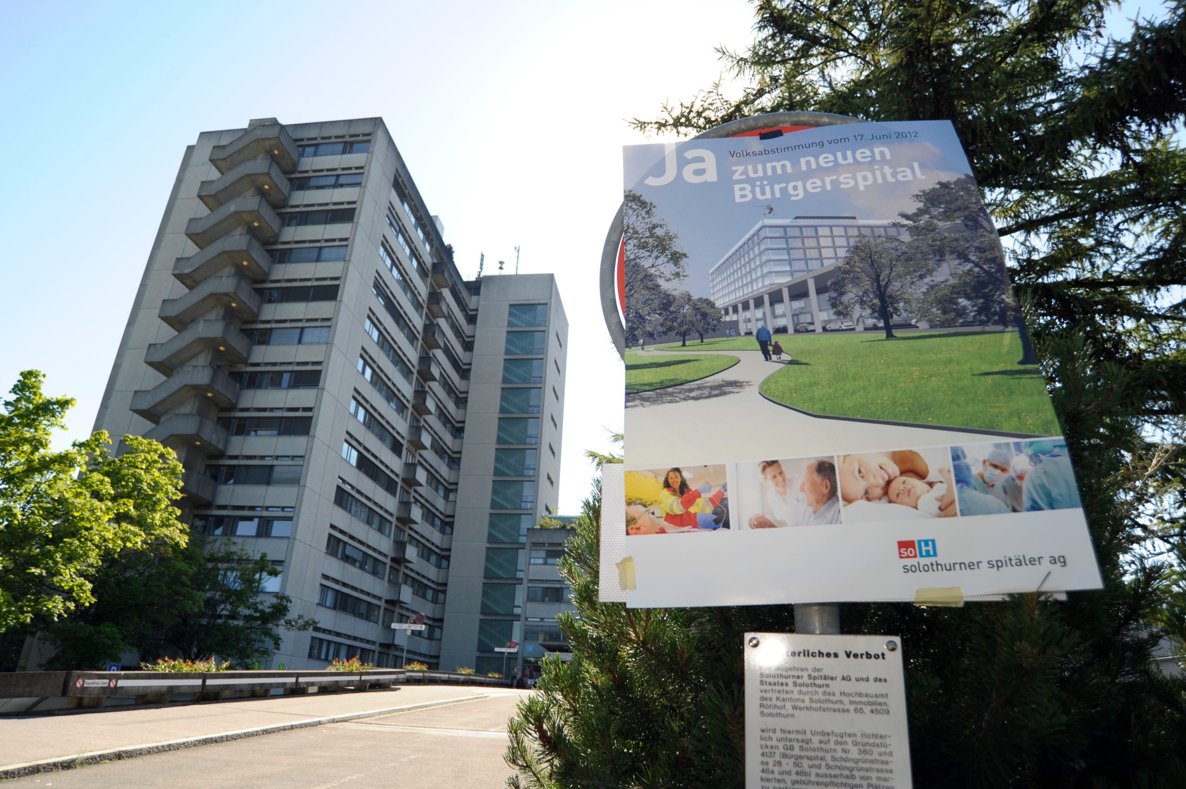 2012 haben die Stimmbürgerinnen und Stimmbürger grünes Licht gegeben für den Neubau des Bürgerspitals Solothurn.