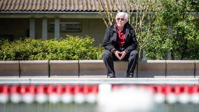Hugo Brügger im Schwimmbad Eichholz. (Michel Lüthi)