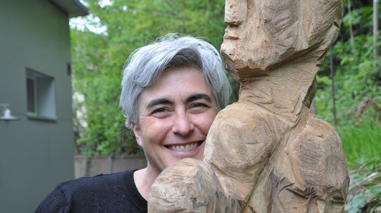 Sabine Miryam Hurni ist zu Gast in der GaleriePot au Feu in Fischbach-Göslikon. (Nathalie Wolgensinger)