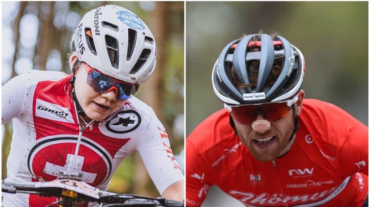 Sind sie plötzlich die besten Schweizer? Sina Frei (links) und Mathias Flückiger. (Bilder: Imago)