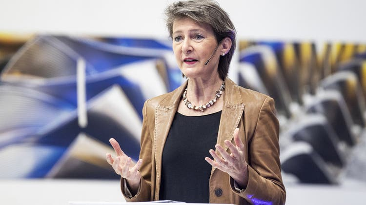 Simonetta Sommaruga erhofft sich von der Klimakonferenz in Glasgow handfeste Regeln für die Klimapolitik. (Archivbild) (Keystone)