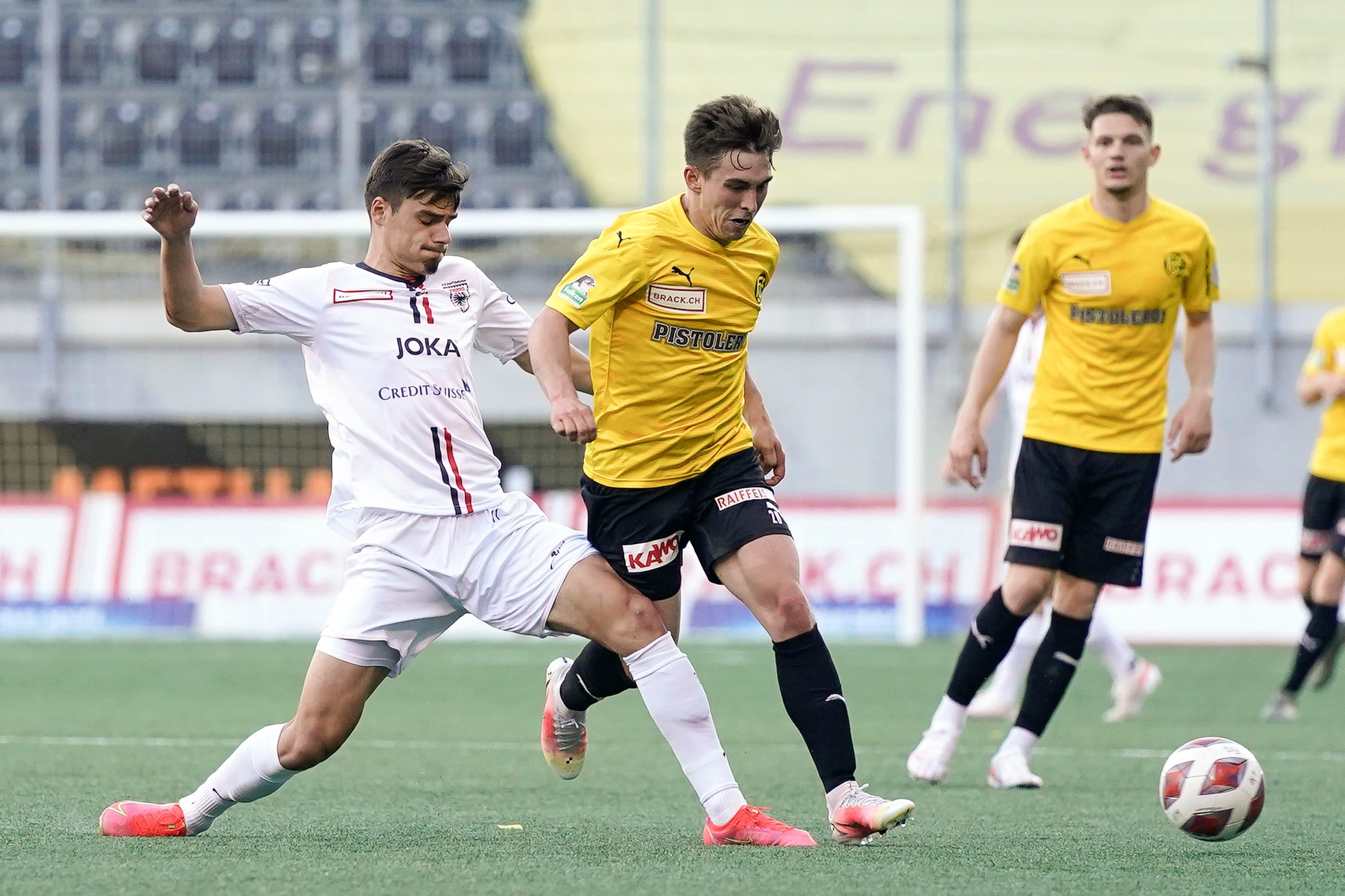 Der FC Aarau kann auf den dritten Gegentreffer nicht mehr reagieren.