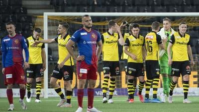 YB jubelt, Arthur Cabral und der FC Basel schauen bedröppelt drein. So war es zuletzt oft, wenn die beiden besten Teams der Schweiz aufeinandertrafen. (Peter Schneider / KEYSTONE)