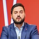 Cédric Wermuth, Co-Präsident der SP Schweiz, kritisiert an der Online-Delegiertenversammlung den Bundesrat für seine aktuelle Europapolitik. (Keystone)