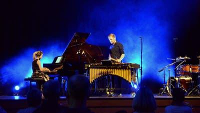Akvile Sileikaite am Piano und Ehemann Fabian Ziegler an der Perkussion. (Bild: Christoph Heer)