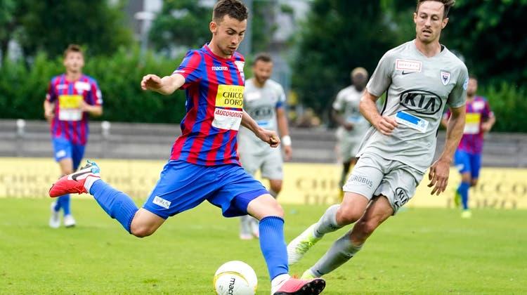 Seine letzte Station als Profi ist der FC Chiasso. Im Oktober löst Robin Huser den Vertrag mit dem Challenge-League-Klub vorzeitig auf. (Andy Müller/Freshfocus)