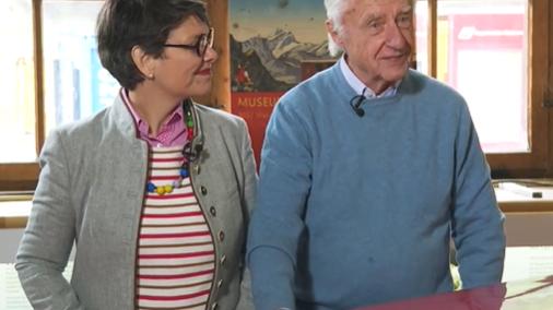«Waren nie länger als ein paar Tage voneinander getrennt»: Zu Gast bei «Im Zug mit...» Emil und Niccel Steinberger
