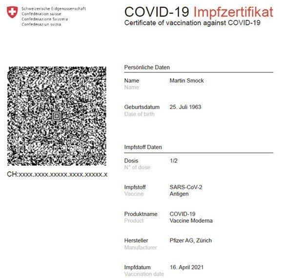 Covid Zertifikat Als Qr Code Bund Zeigt Auf Wie Es Aussieht