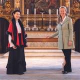 Marie-Christine Egger und Marion Ammann (von links) in der St.-Peters-Kapelle in Solothurn. (André Scheidegger)