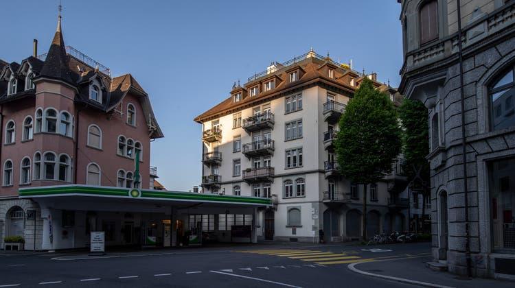 Das Haus an der Bruchstrasse 5 (helle Fassade) hat der frühere Stadtschreiber Toni Göpfert an die Gemeinnützige Gesellschaft der Stadt Luzern verkauft. Er ist deren Vizepräsident. (Bild: Dominik Wunderli (Luzern, 31. Mai 2021))