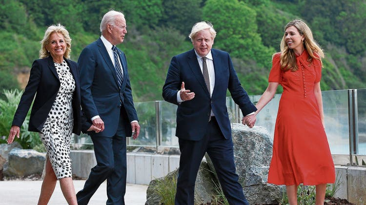 Die «relation» soll wieder «special» werden: Johnson und Biden plaudern über China – und ihre Ehefrauen